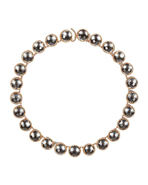 Larkspur & Hawk - Metallic Olivia Button Riviere Necklace - Lyst