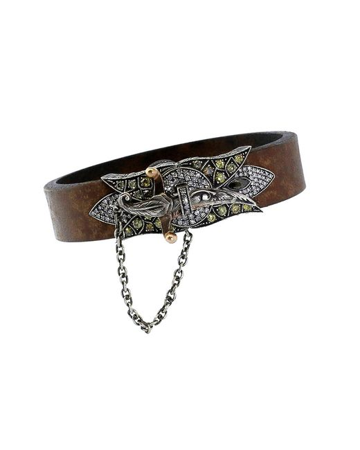 Sevan Biçakci - Multicolor Sword Clasp Leather Bracelet - Lyst