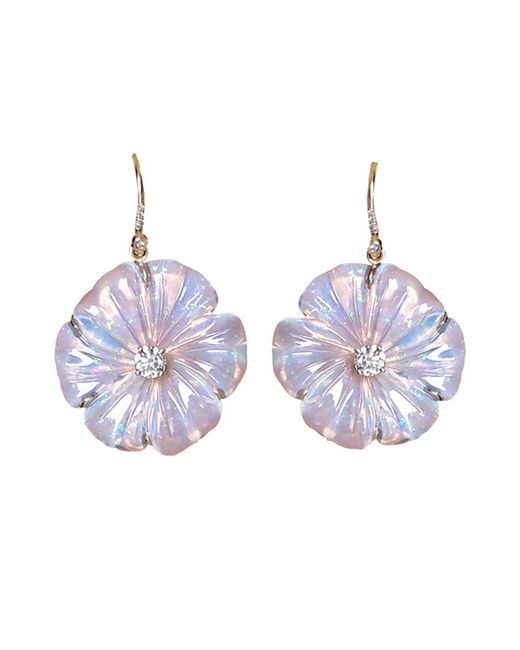 Irene Neuwirth | Metallic Carved Opal Flower Earrings | Lyst