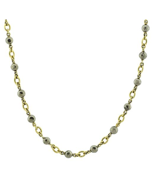 Sylva & Cie | Metallic Hematite Bead Necklace | Lyst