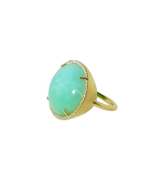 Irene Neuwirth - Green Cabochon Mint Chrysoprase Ring - Lyst