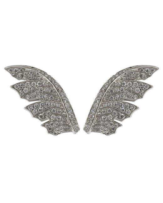 Stephen Webster - Metallic Magnipheasant Pave Diamond Feather Earrings - Lyst