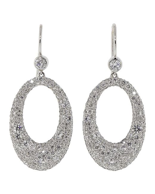 Kwiat - Metallic Cobblestone Collection Diamond Pave Circle Earrings - Lyst