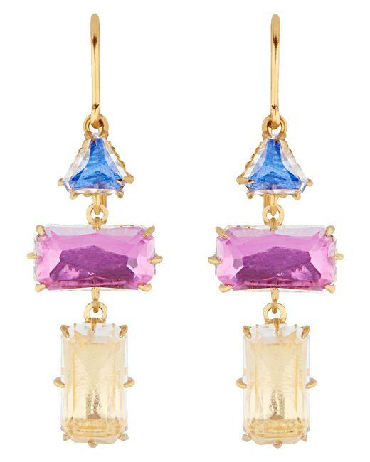 Larkspur & Hawk - Multicolor Caterina Baguette 3 Drop Earrings - Lyst