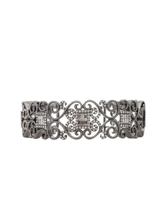 Bochic | White Diamond Scroll Cuff Bracelet | Lyst