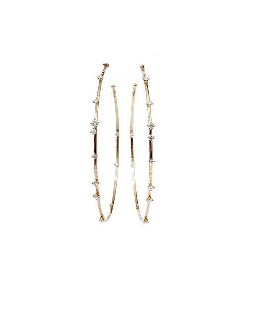Mattia Cielo | Pink Rugiada Diamond Hoop Earrings | Lyst