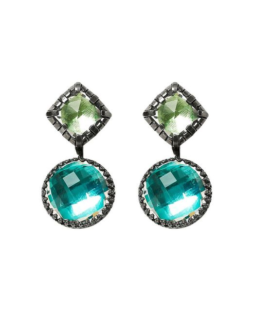 Larkspur & Hawk - Metallic Sadie Cushion Earrings - Lyst