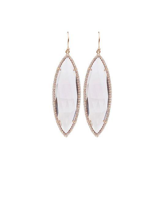 Irene Neuwirth | Pink Rose Cut Rose De France Earrings | Lyst