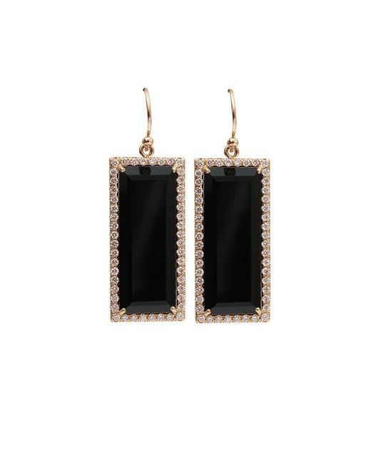 Irene Neuwirth | Green Emerald Cut Onyx Earrings | Lyst