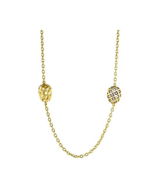 Yossi Harari | Yellow Roxanne Rattan Wrap Diamond Necklace | Lyst