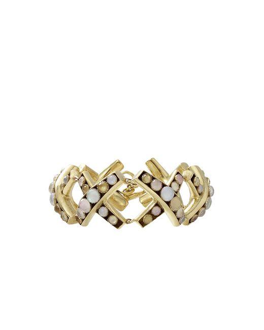 Vaubel | Metallic Round Stone X Bracelet | Lyst