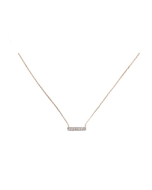 Dana Rebecca | Pink Sylvie Rose Mini Diamond Bar Necklace | Lyst