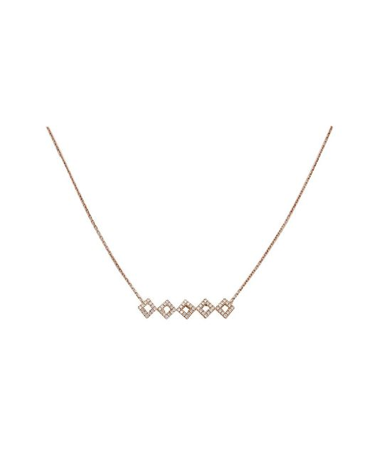 Dana Rebecca | Pink Lisa Michelle Diamond Pendant Necklace | Lyst