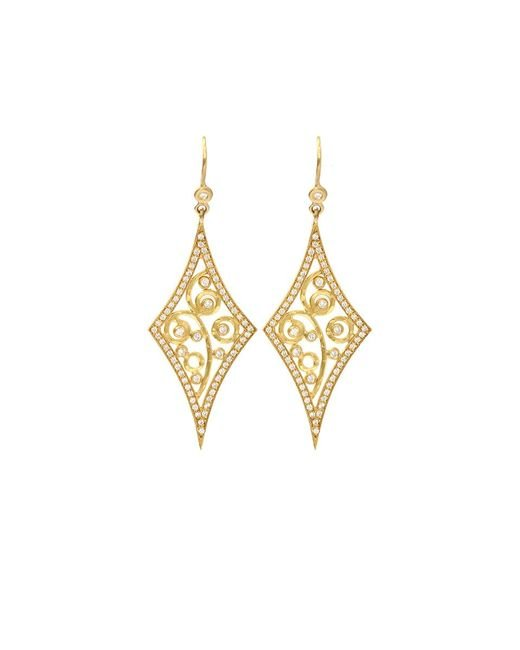 Annie Fensterstock | Metallic Diamond Shape Earrings | Lyst