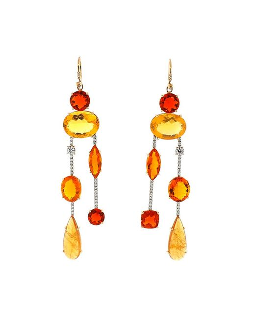 Irene Neuwirth - Multicolor Fire Opal Diamond Drop Earrings - Lyst