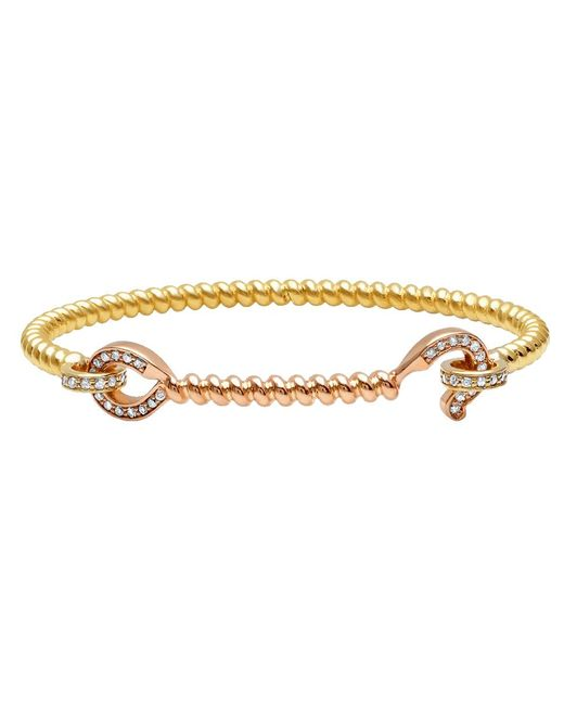 Nancy Newberg - Metallic 14-karat Gold Diamond Hook Bangle - Lyst