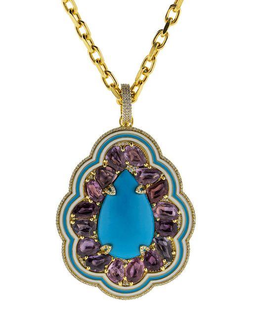 Buddha Mama   Multicolor Sleeping Beauty Turquoise Pendant   Lyst
