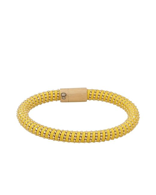 Carolina Bucci - Metallic Yellow Twister Band Bracelet - Lyst