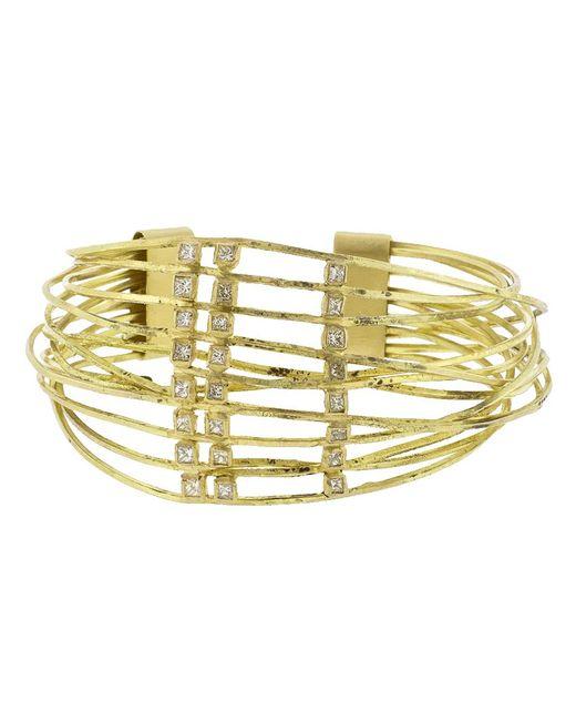 Boaz Kashi - Metallic Diamond Wire Wrap Cuff Bracelet - Lyst
