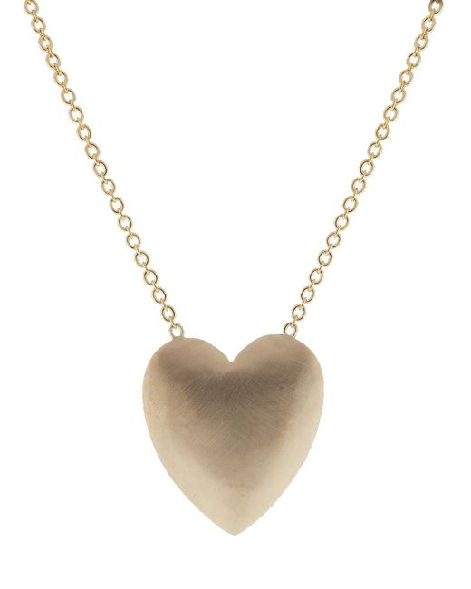 Irene Neuwirth - Multicolor Extra Large Heart Flat Gold Necklace - Lyst