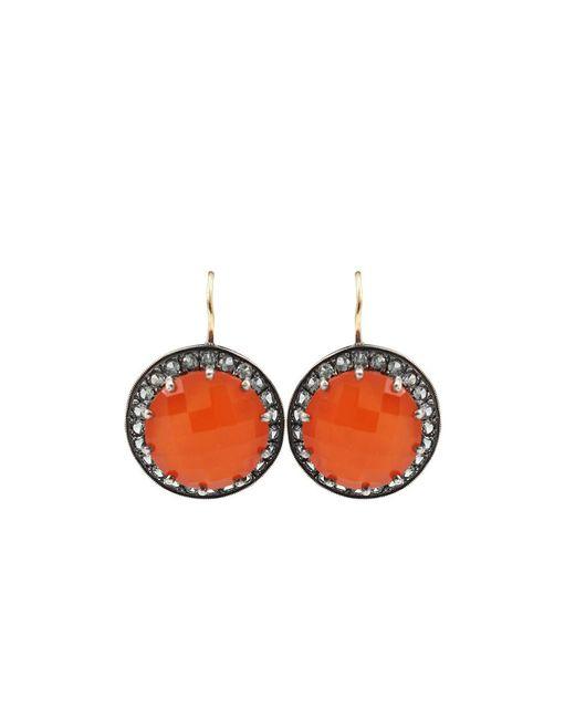 Andrea Fohrman - Carnelian And Gray Sapphire Button Earrings - Lyst