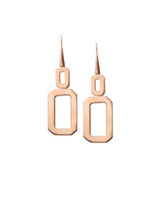 Rebecca | Metallic Elizabeth Square Drop Earrings | Lyst