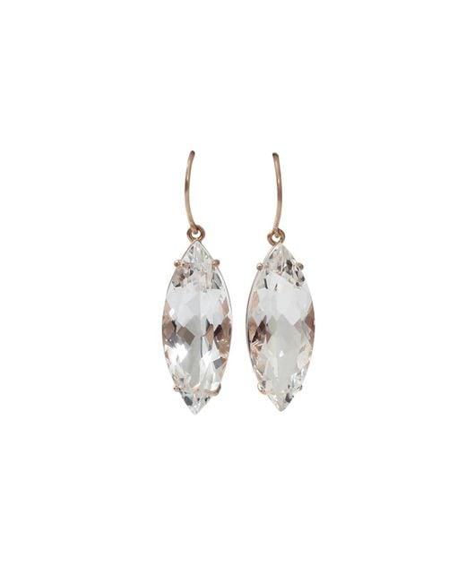 Andrea Fohrman | White Rock Crystal Marquis Earrings | Lyst