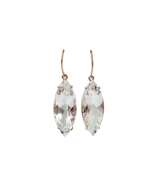 Andrea Fohrman | White Rock Crystal Marquis Earrings | Lyst