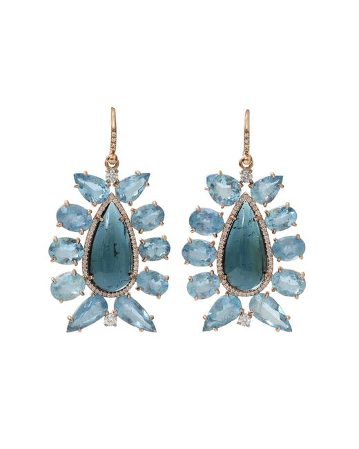 Irene Neuwirth | Blue Indicolite Tourmaline Earrings | Lyst