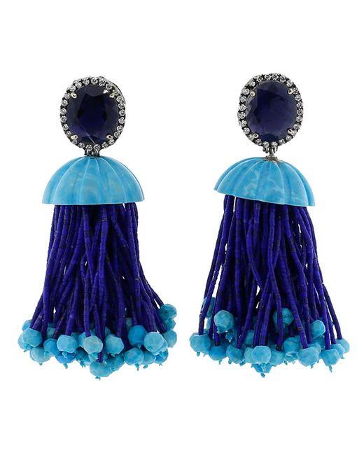 Silvia Furmanovich | Blue Tassel Earrings | Lyst