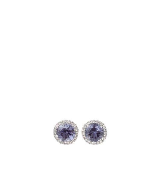 Dana Rebecca   White Anna Beth Iolite Stud Earrings With Diamond Pave   Lyst
