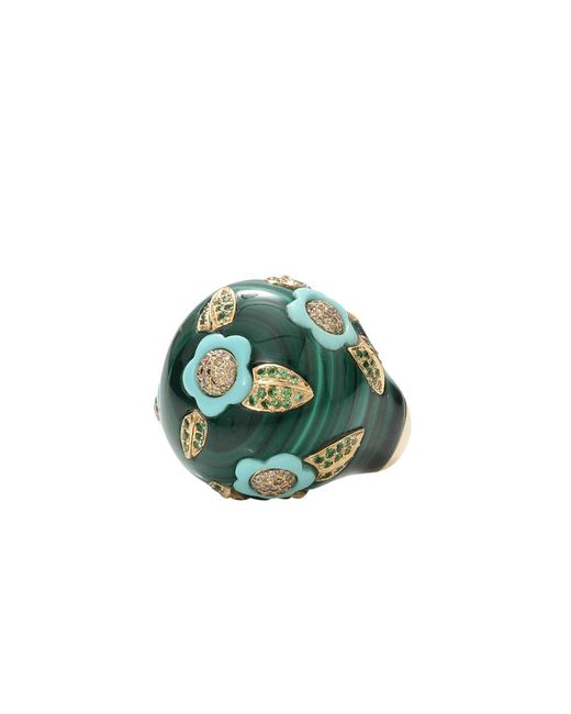 Wendy Yue | Green Malachite And Turquoise Ring | Lyst