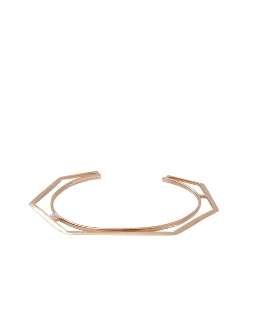 Monique Péan | Pink Diamond Baguette Hexagonal Open Cuff | Lyst