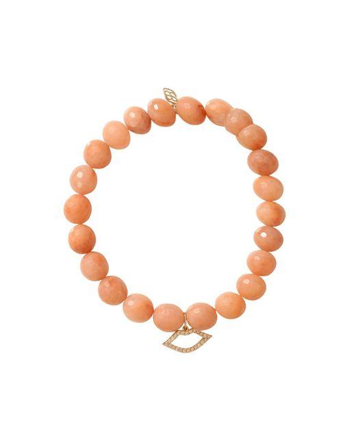 Sydney Evan - Orange Diamond Lips Beaded Bracelet - Lyst
