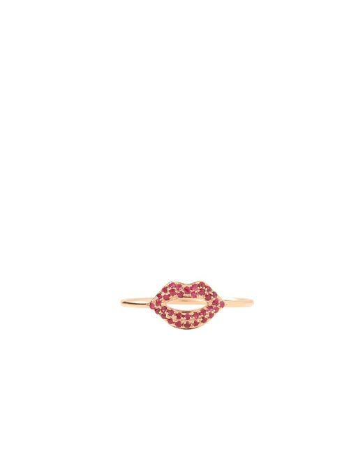 Sydney Evan | Pink Lips Ring | Lyst
