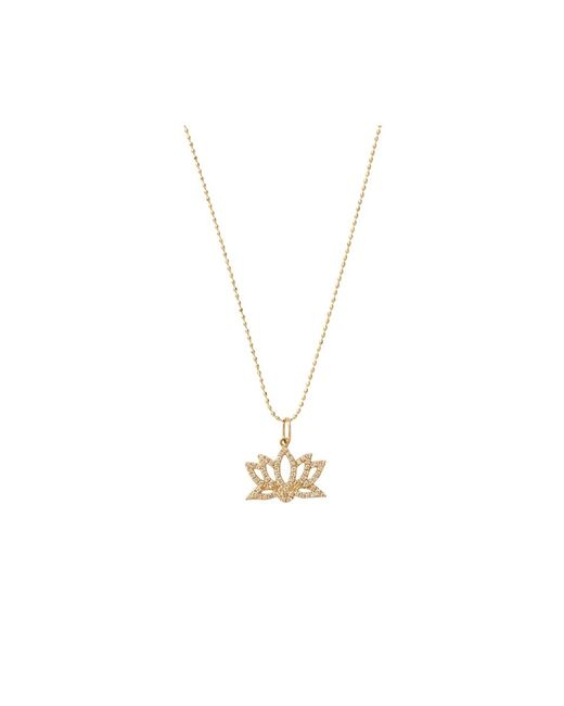 Sydney Evan | Metallic Diamond Lotus Necklace | Lyst