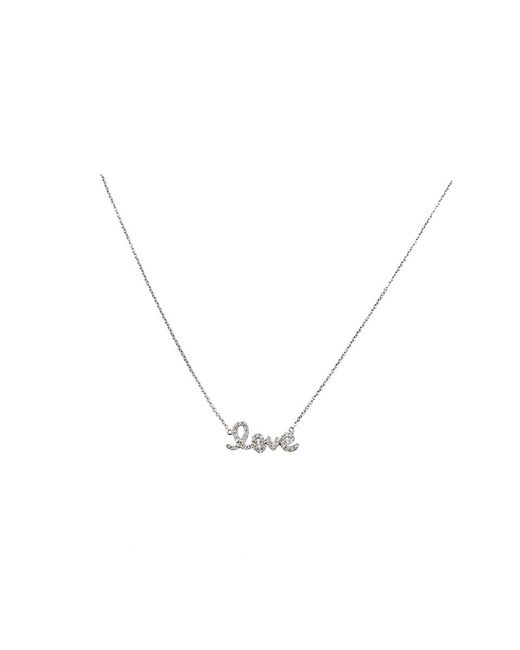 Sydney Evan | Metallic Diamond Love Necklace | Lyst