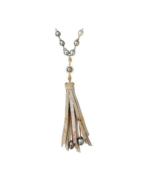 Jordan Alexander | Metallic And Tahitian Pearl Necklace | Lyst