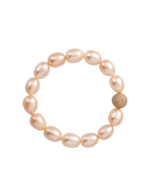 Jordan Alexander | Pink Pearl And Diamond Bead Bracelet | Lyst
