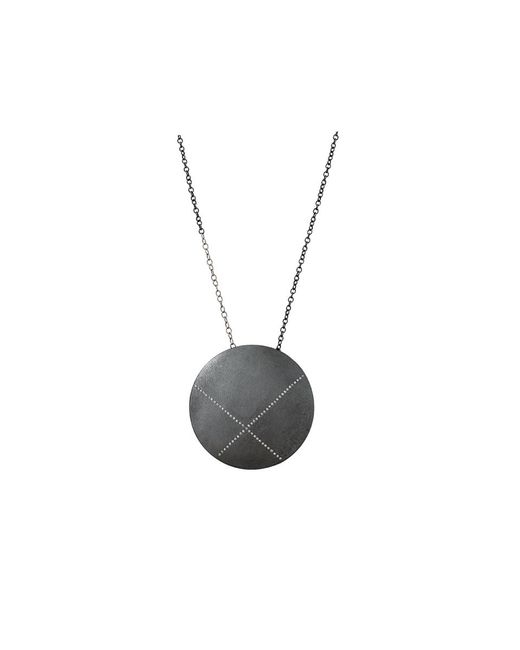 Todd Reed | Metallic Diamond X Circle Pendant Necklace | Lyst