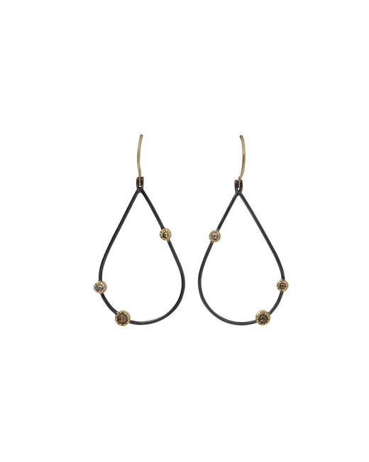 Todd Reed | Black Openwork Teardrop Diamond Earrings | Lyst