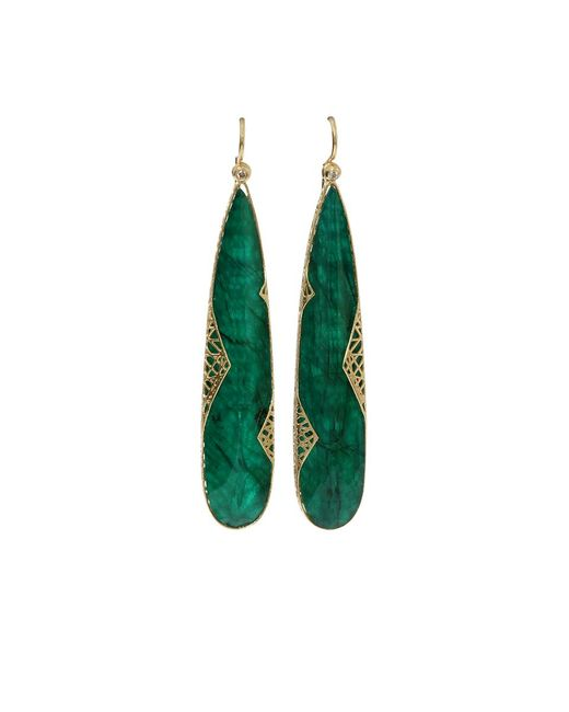 Yossi Harari | Metallic Emerald Slice Lace Earrings | Lyst