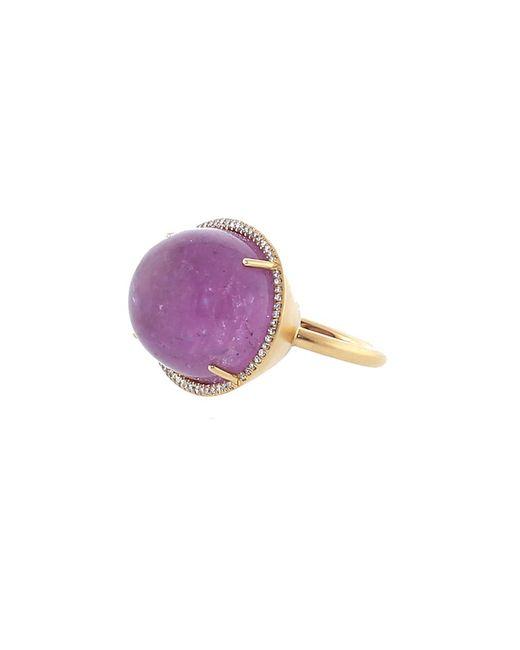 Irene Neuwirth - Multicolor Pink Tourmaline Diamond Pave Ring - Lyst