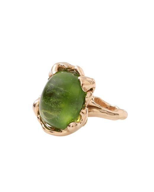 Lucifer Vir Honestus - Green Peridot Chicco Ring - Lyst