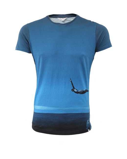Orlebar Brown   Blue Photographic T-shirt   Lyst