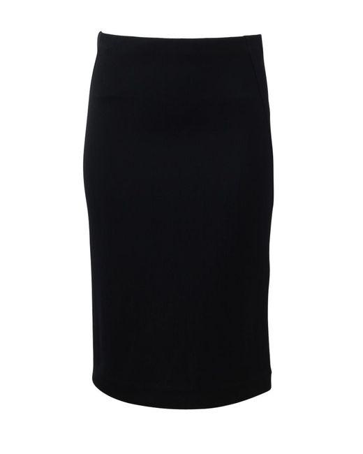 Donna Karan | Black Three Panel Skirt | Lyst