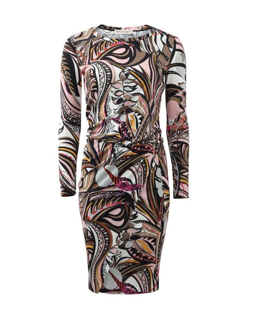 Emilio Pucci | Natural Printed Blouson Dress | Lyst