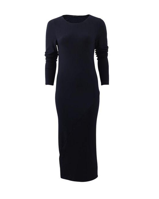 Donna Karan | Blue Fitted Drape Dress | Lyst