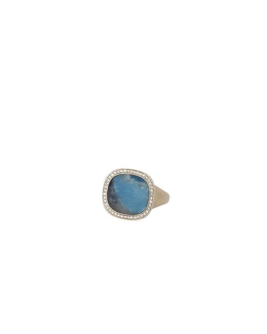 Monique Péan | Blue Gilalite And White Diamond Ring | Lyst