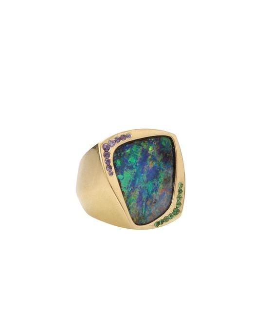 Katherine Jetter - Blue Opal Corner Ring - Lyst